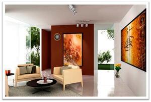 Картины из янтаря в интерьере