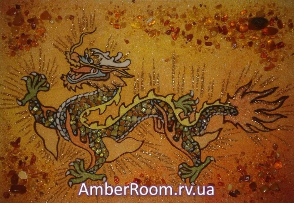 Китайський дракон. Купити картини з бурштину Китайський дракон ... f26585bd5d6b4