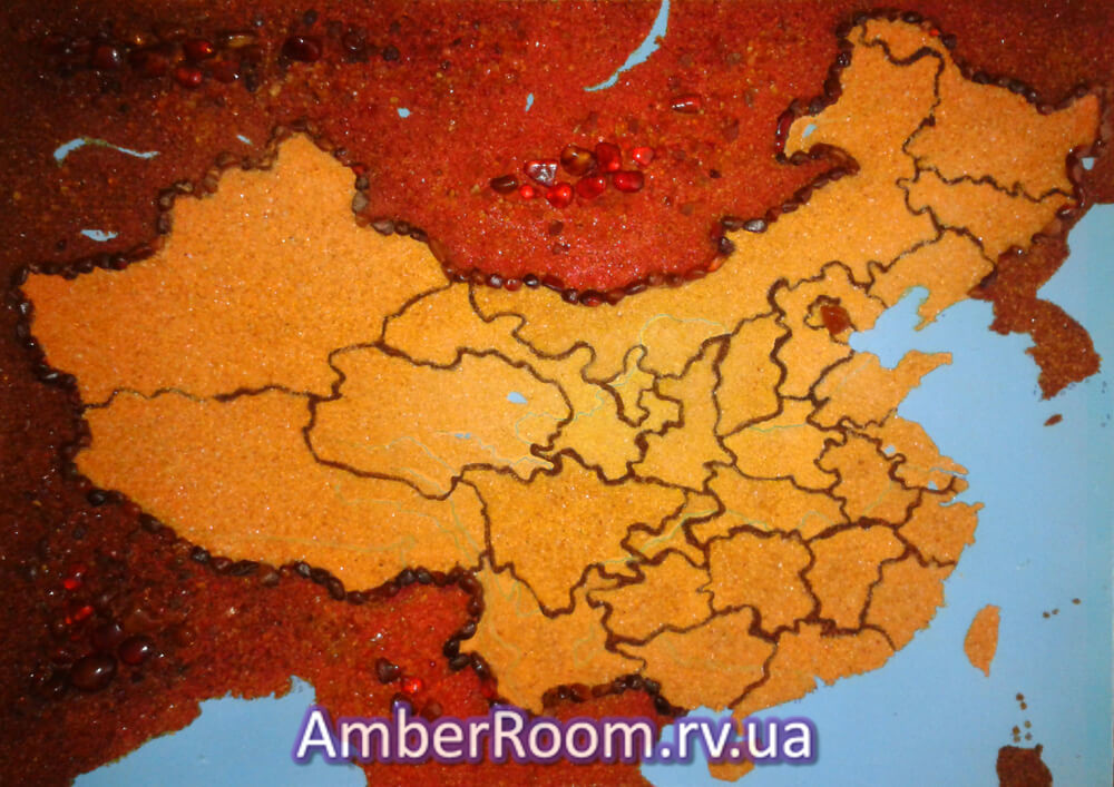 Карта Китаю 1. Купити картину з бурштину Карта Китаю 1 ... ce552a2252f4b